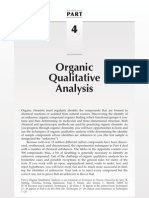 Qualitative Analysis of Organic Compounds