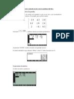 Matrices y Graficas en Calculadoras Hp 50g