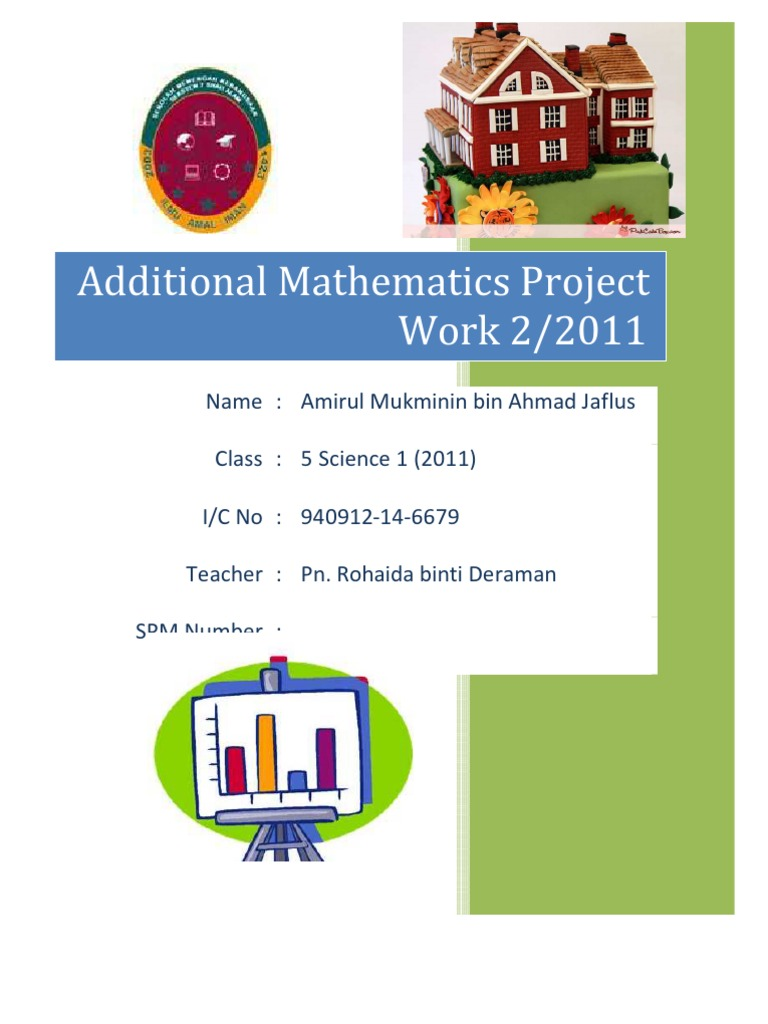 Additional Mathematics Project Work 2 2011 | Cakes