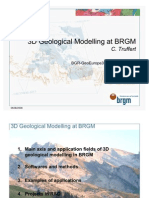 3D Geological Modelling at BRGM
