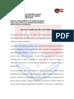 Ensayo Sobre Equipos de Trabajo Por Mario Ortiz Diaz