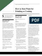 Emergency Water Preparedness