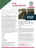 Amdel - Mineral Processing Laboratories Brochure