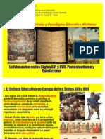 21. La Educación en Siglos XVI y XVII. Protestantismo y Catolicismo