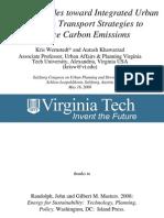 Public Attitudes toward Integrated Urban Design & Transport Strategies to Reduce Carbon Emissions - Presentation