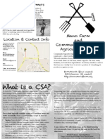 Mano Farm Community Supported Agriculture (CSA) Brochure