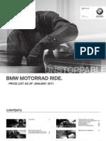 Motorrad Ride Price List