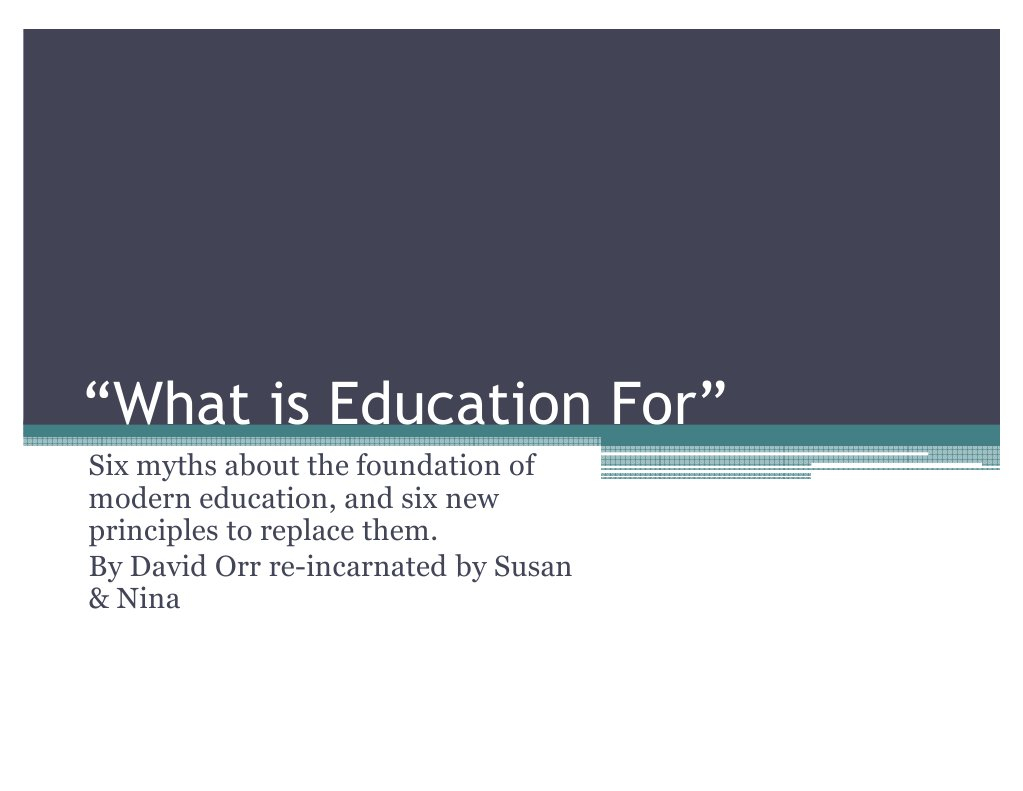 what is modern education