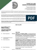 071211 Lake County Board of Supervisors Agenda