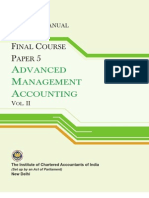 51081004 Advanced Management Accounting Vol II