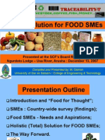 SCF-Holistic Solution for FOOD SMEs
