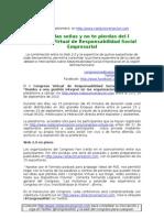Agenda y Plataforma - I Congreso Virtual de RSE - Rumbo a una gestión integral en las organizaciones - 23 y 24 de septiembre de 2010