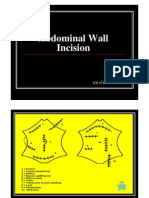 Abdominal Wall Incision