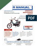 Kinetic Moped Service Manual