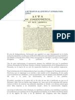 Acta In Depend en CIA Se Tradujo Al Quechua y Aymara Para Divulgarla en El Pueblo