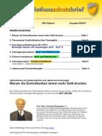 """Inflationsschutzbrief (Börsenbrief) Ausgabe 3/2011 """"Inflation / Inflationsschutz"""