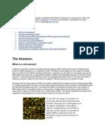 Basics of Micro Arrays