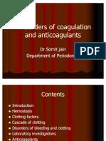 Hemostasis,Clotting Disorder and Anticoagulants