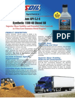 Amsoil Data Bulletin - Amsoil Premium API CJ-4 Synthetic 15W-40 Diesel Oil (DME)
