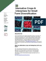 Alternative Crops and Enterprises for Small Farm Diversification