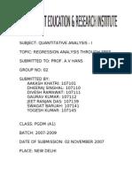 Regression Analysis Through SPSS