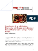 Constitución de la subj-vínculo-protovínculo