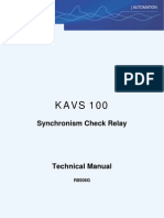 Check Synch Ron is Ing Relay KAVS 100