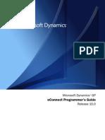 Microsoft GP 10(eConnectProgrammersGuide)