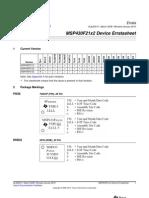 MSP430F21x2 Errata