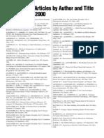 JCO Article Index