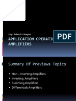 Application Operational Amplifiers