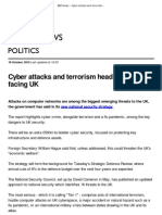 BBC News - Cyber Attacks and Terrorism Head Threats Facing UK