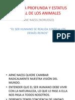 ECOLOGÍA PROFUNDA Y ESTATUS MORAL DE LOS ANIMALES