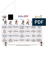 July Calendar in Spanish- Healthy Kids Family Tips July 2011