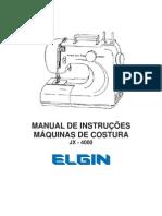 Máquina de Costura JX4000 Genius Portátil 110V - Elgin_Manual