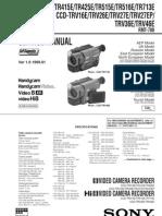 Manual CCD-TR(v) Plus CCD-TR515E Service Manual
