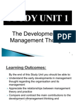 Study Unit 1 - The Development of Management Thought