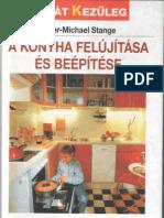 a konyha felújítása és beépítése