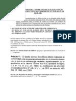 Recom. para Solicitud de Actualización de Proy. Estructuras  - Decreto 117 y Decreto 118