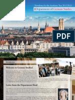 Department of German Studies Newsletter 2011 - University of Arizona