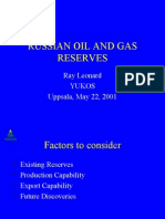2001 Russian Oil and Gas Reserves