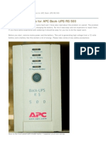 Repair Instructions for APC Back-UPS RS 500 - Heime