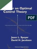 Primer on Optimal Control BOOK Speyer