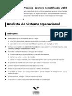 Mec08 Prova Objetiva Analista Sistema Operacional