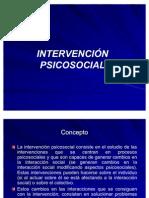 INTERVENCIÓN PSICOSOCIAL