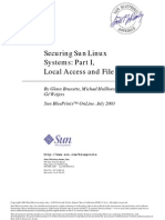 Securing SunLinux Systems Part I, Local Access and File Systems 817-3420(2003)