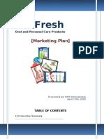 Dr Fresh Final Business Plan