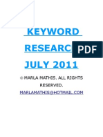 July 2011 Keyword Research Packet
