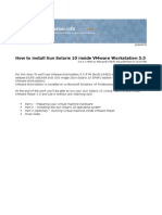 How to Install Sun Solaris 10 Inside Vmware Workstation 5.5
