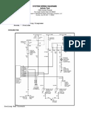 Honda Prelude IV (92-96) - System Wiring Diagrams h22a wiring harness diagram Scribd